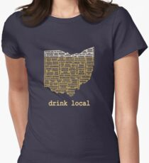 Drink Local - Ohio Beer Shirt Women's Fitted T-Shirt