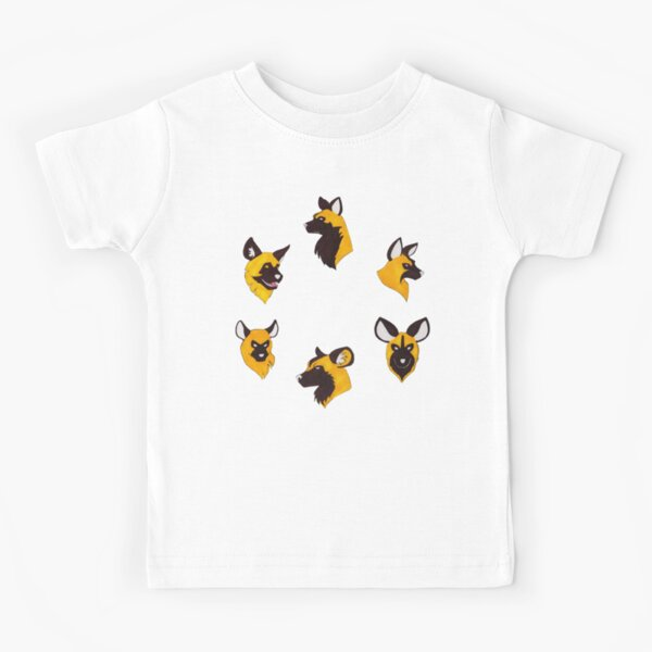 Painted Hunting Dog Faces Kids T-Shirt