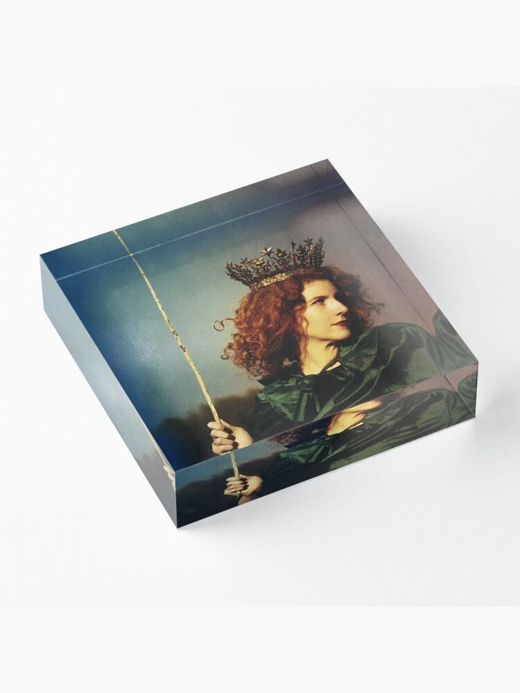 Alternative Ansicht von Königin der Zauberstäbe Acrylblock