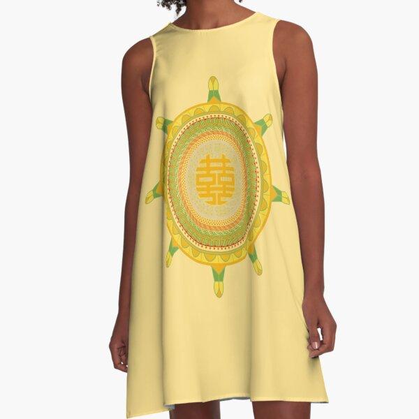 Wheel of Dharma A-Line Dress