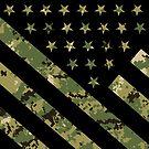 Militärische digitale Tarnung US-Flagge von MilitaryCandA