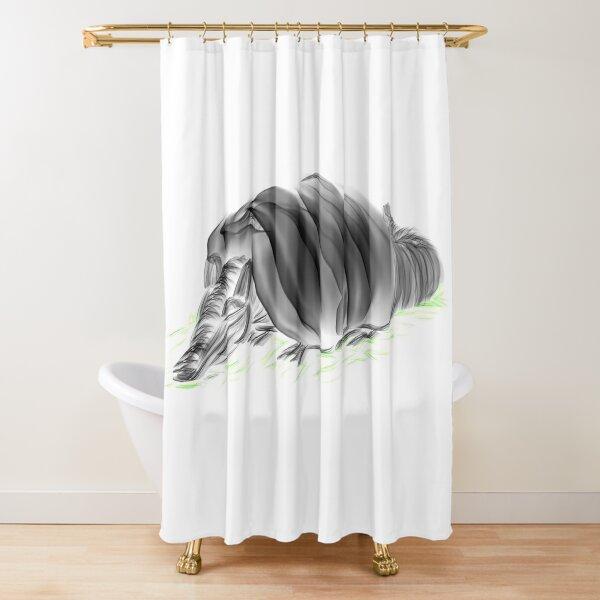The sleeping armadillo Shower Curtain