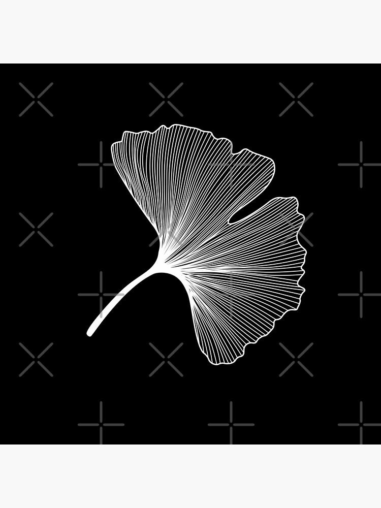 Ginkgo Biloba leaves pattern - WHITE by PrintablesP