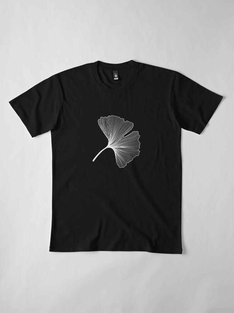Alternate view of Ginkgo Biloba leaves pattern - WHITE Premium T-Shirt