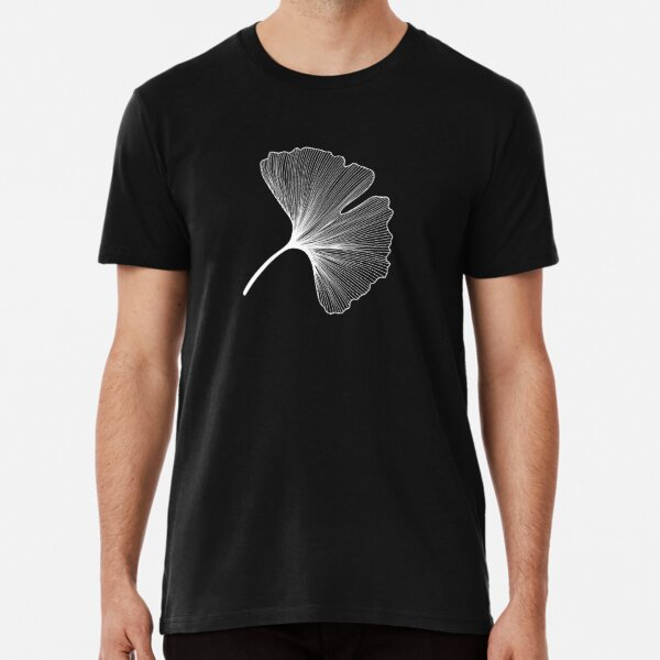 Ginkgo Biloba leaves pattern - WHITE Premium T-Shirt
