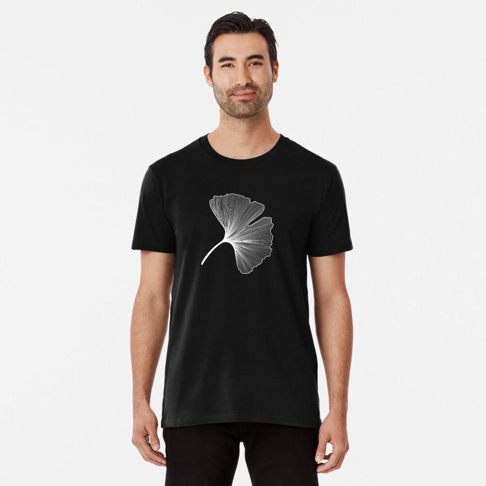 Ginkgo Biloba leaves pattern - WHITE Premium T-Shirt
