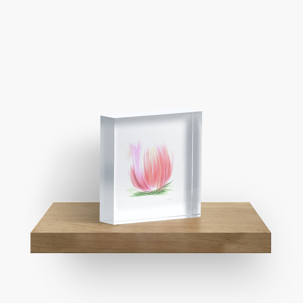 The Water lily Acrylic Block