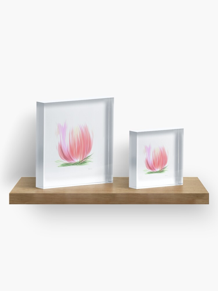 Alternate view of The Water lily Acrylic Block