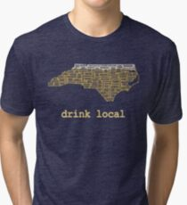 Drink Local - North Carolina Beer Shirt Tri-blend T-Shirt