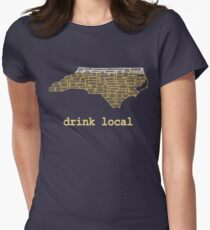 Drink Local - North Carolina Beer Shirt Women's Fitted T-Shirt
