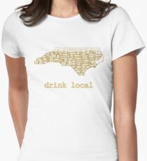 Drink Local - North Carolina Beer Shirt Womens Fitted T-Shirt