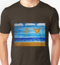 itsy bitsy teeny weenie orange polka dot bikini Unisex T-Shirt