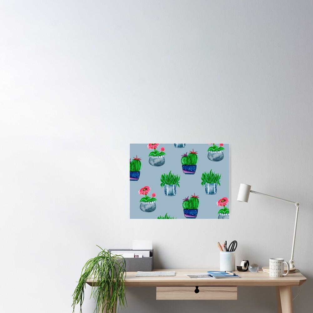 Cacti pattern Poster