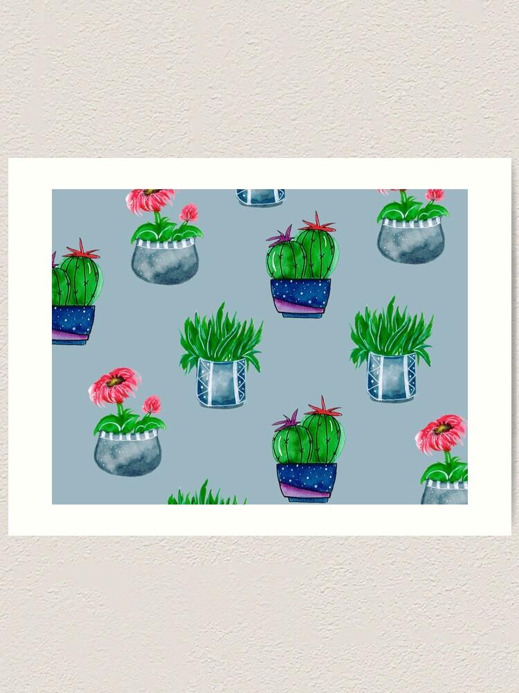 Alternate view of Cacti pattern Art Print