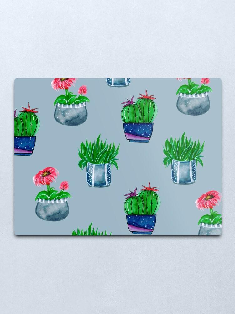 Alternate view of Cacti pattern Metal Print