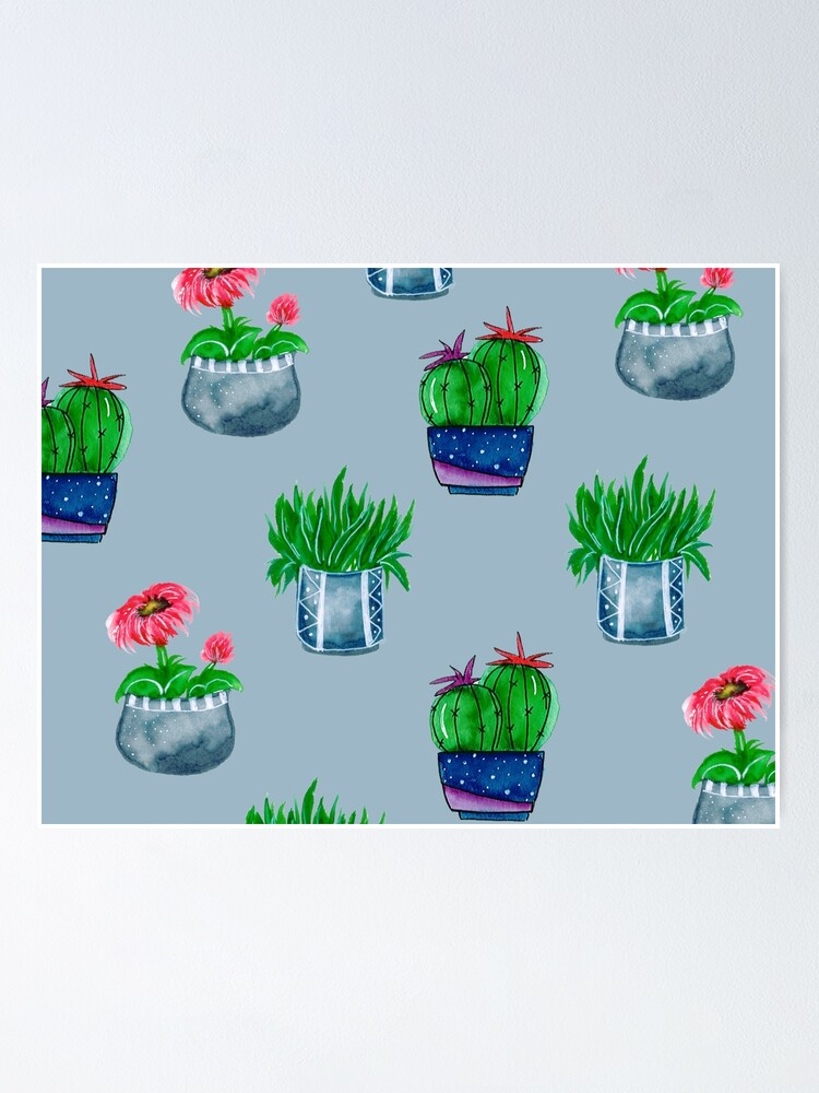 Alternate view of Cacti pattern Poster