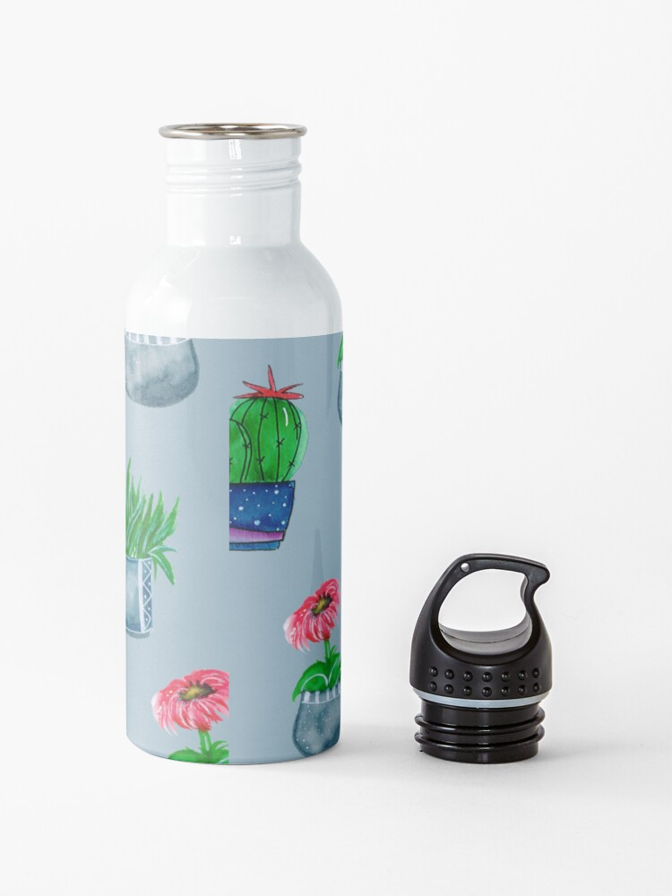 Alternate view of Cacti pattern Water Bottle