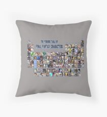 The periodic table of Final Fantasy Characters Throw Pillow