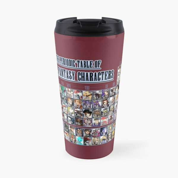 The periodic table of Final Fantasy Characters Travel Mug