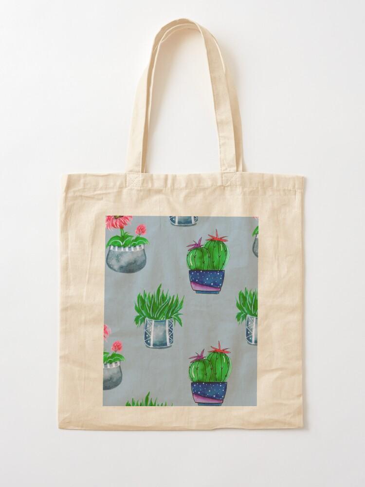 Alternate view of Cacti pattern Tote Bag