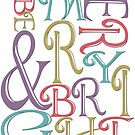 Modern Typography Merry and Bright  by IconicTee