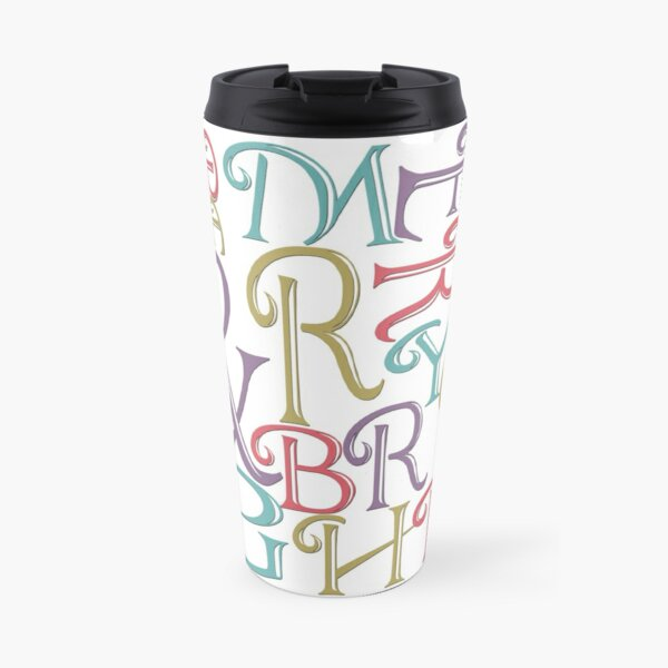 Modern Typography Merry and Bright  Travel Mug