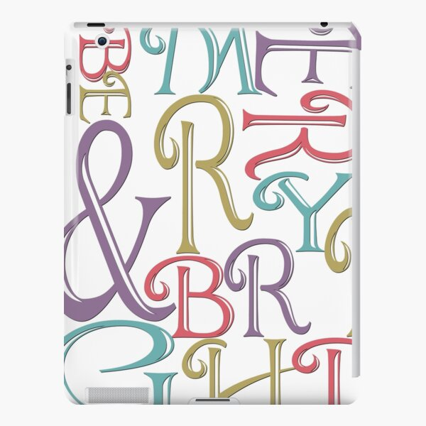 Modern Typography Merry and Bright  iPad Snap Case