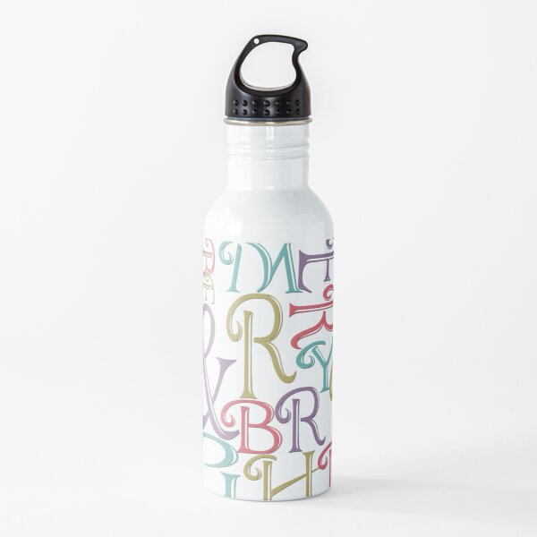 Modern Typography Merry and Bright  Water Bottle
