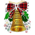 Christmas bells with red bow by Fun Arts