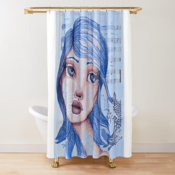 Blue Girl Shower Curtain