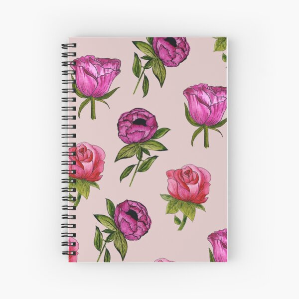 Pink and Purple florals Spiral Notebook