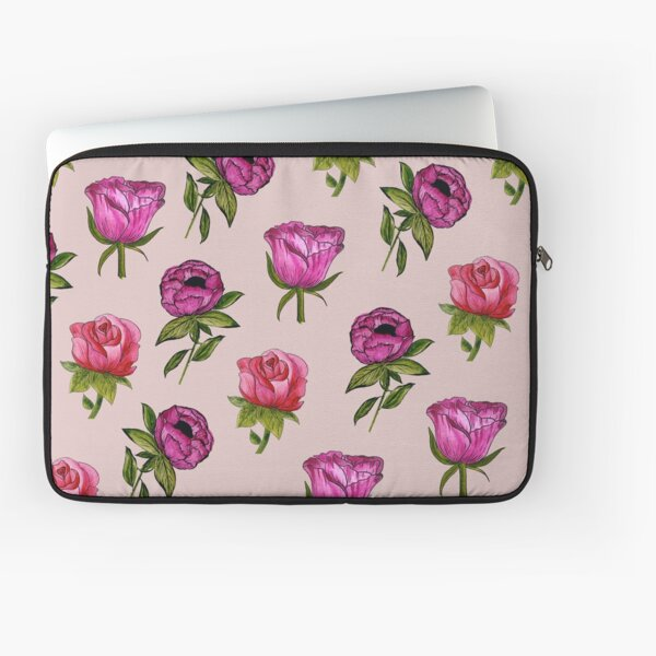 Pink and Purple florals Laptop Sleeve