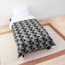 Kit Cat ~ Black and white Comforter