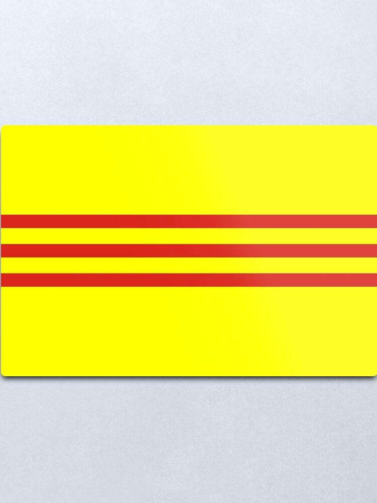 Alternate view of south vietnam flag Metal Print