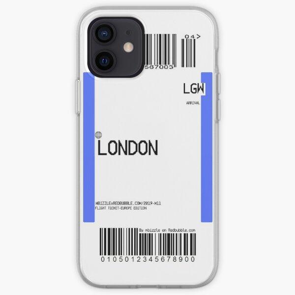Boleto aéreo - Londres Funda blanda para iPhone
