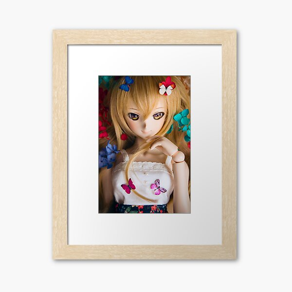 Flowers and butterflies · Coco Framed Art Print