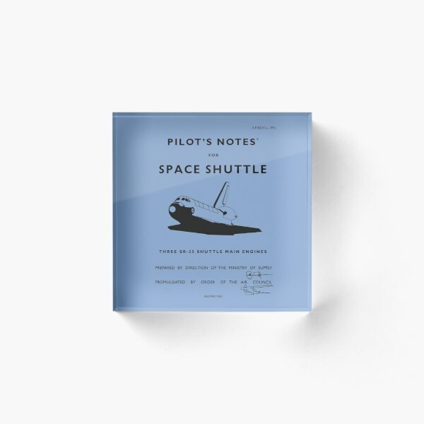 Pilot's Notes for Space Shuttle Acrylic Block