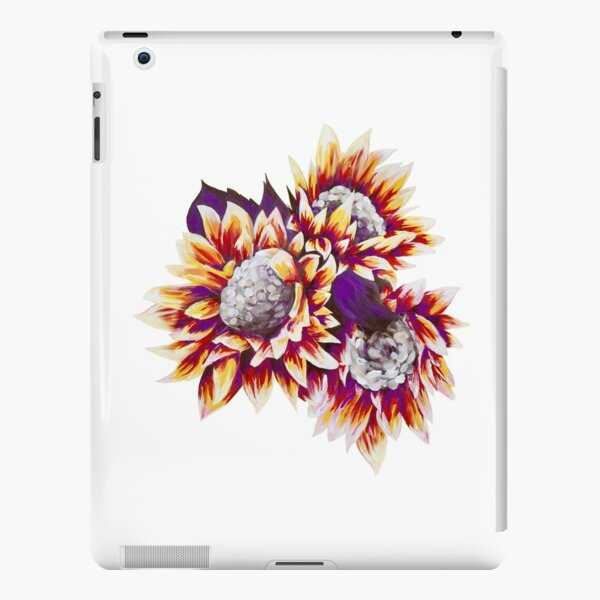 Red, Yellow, and Purple Sunflower Cluster iPad Snap Case