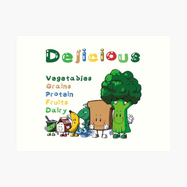 DELICIOUS Food Group T-Shirts PLUS more stuff Art Print