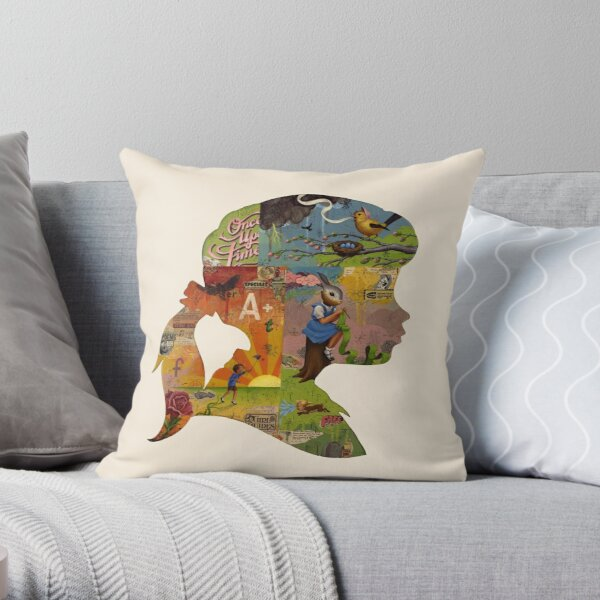 Thoughtful - Girl Silhouette Throw Pillow