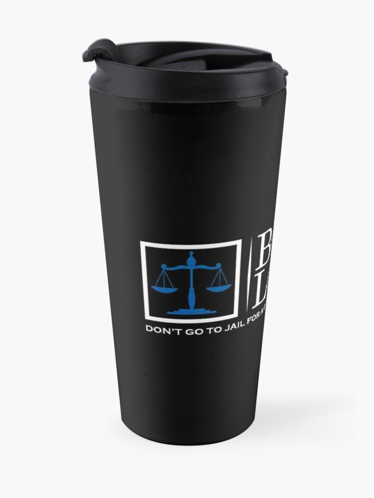 Alternate view of Bob Loblaw logo inspired by Arrested Development Travel Mug