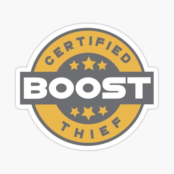 Certified Boost Thief Badge Sticker