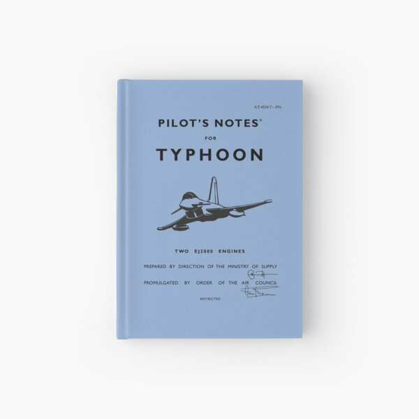Pilot's Notes for Typhoon Hardcover Journal