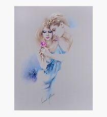 """Geschenkte Rose"" Pastel Pencil Artwork Photographic Print"
