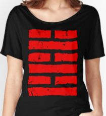 Arashikage Distressed Red Women's Relaxed Fit T-Shirt