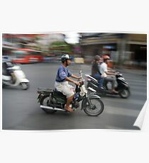 Life rolls by in Ho Chi Minh Poster