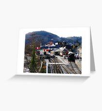 Llangollen Steam Railway Station Greeting Card