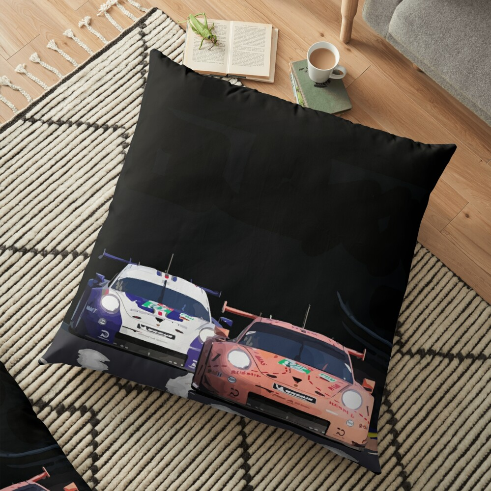 Porsche 911 RSR Classic Livery 2018 Floor Pillow