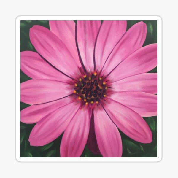 Pop Pink Daisy Flower Sticker