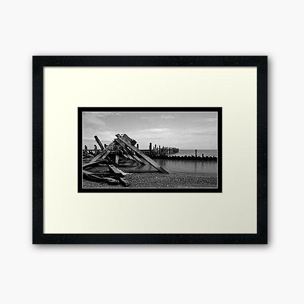 Destructive seas Framed Art Print